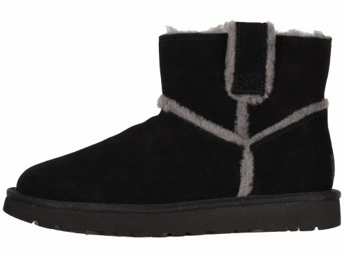 UGG CLASSIC MINI SPEEL SEAM BLACK фото 4