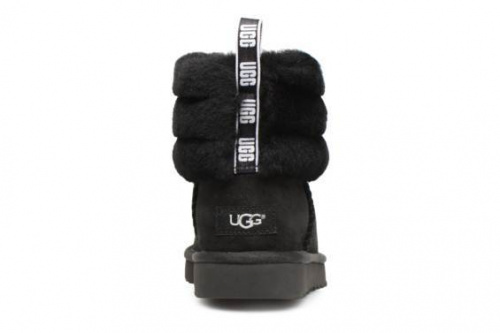 UGG FLUFF MINI QUILTED LOGO BLACK фото 3