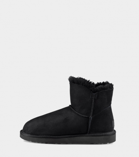 UGG BAILEY BUTTON MINI II WATERPROOF BLACK фото 4