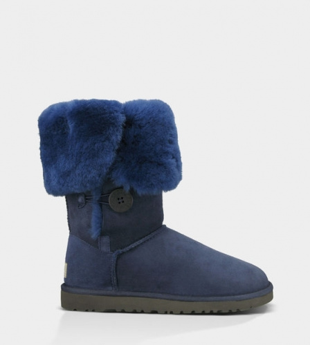 UGG BAILEY BUTTON TRIPLET TALL II WATERPROOF NAVY фото 3