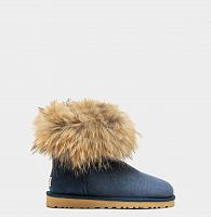UGG FOX FUR MINI NAVY