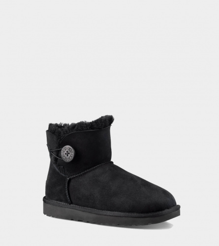 UGG BAILEY BUTTON MINI II WATERPROOF BLACK фото 3
