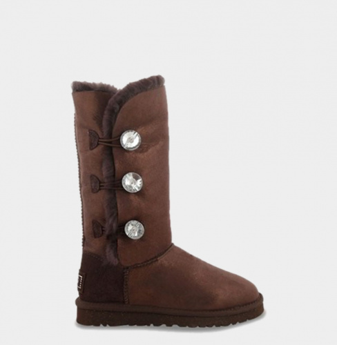 UGG BAILEY BLING TRIPLET TALL CHOCOLATE