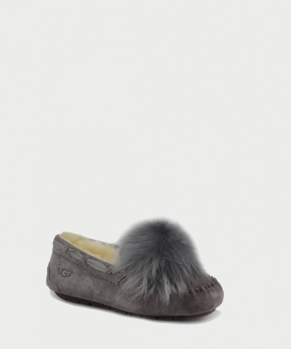 UGG DAKOTA POM POM SLIPPERS GREY фото 2