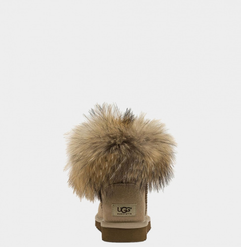 UGG FOX FUR MINI SAND фото 2