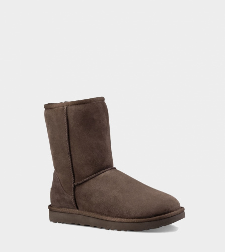 UGG CLASSIC SHORT II WATERPROOF KIDS CHOCOLATE фото 2