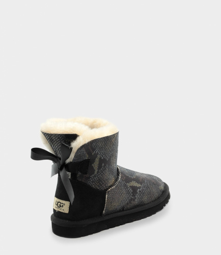 UGG BAILEY BOW SNAKE MINI BLACK фото 4