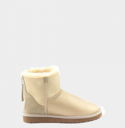 UGG ZIP METALLIC MINI SOFT GOLD