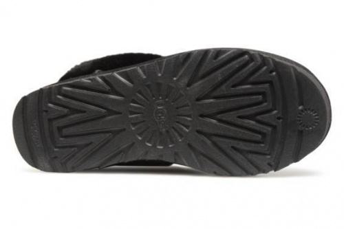 UGG FLUFF MINI QUILTED LOGO BLACK фото 5