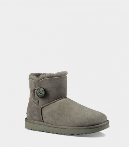 UGG BAILEY BUTTON MINI II WATERPROOF GREY фото 4
