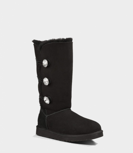 UGG BAILEY BLING TRIPLET TALL BLACK фото 2