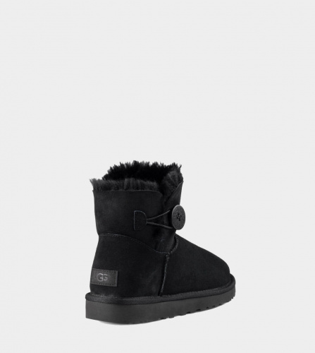 UGG BAILEY BUTTON MINI II WATERPROOF BLACK фото 2