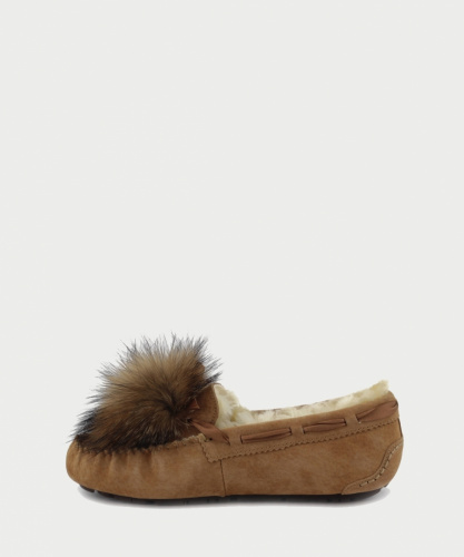 UGG DAKOTA POM POM SLIPPERS CHESTNUT фото 4